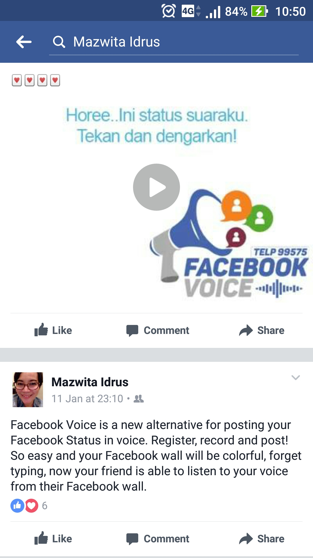 Facebook voice/ AGolf: Sri Wiyanti