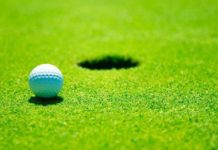 Rumput Golf course ilustrasi