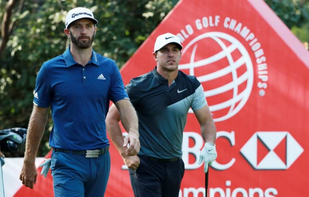 Dustin Johnson dan Brooks Koepka