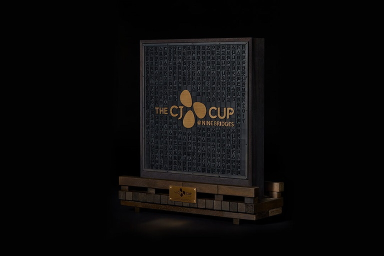 The CJ CUP trophy