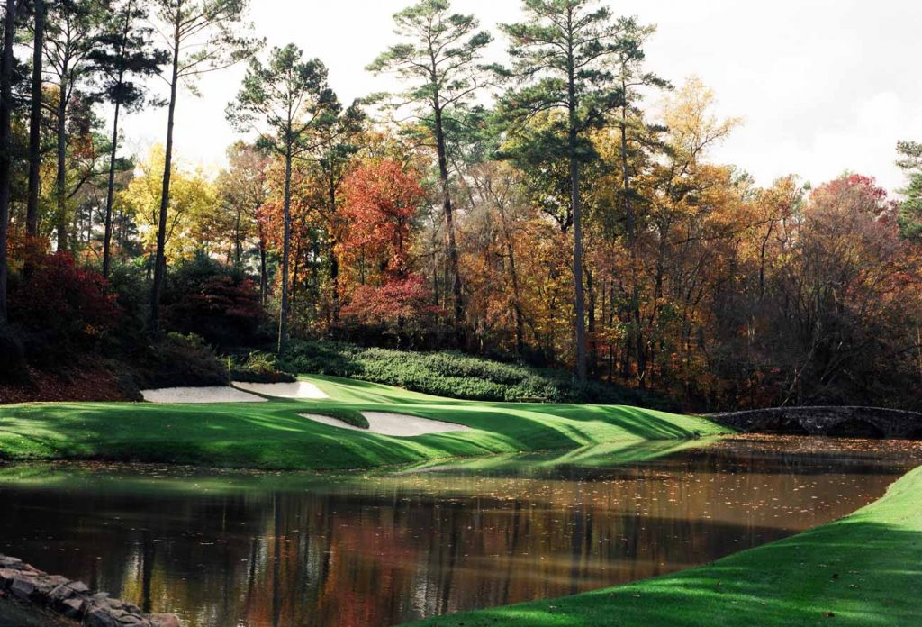 hole 12 Augusta National saat musim gugur / Golf.com